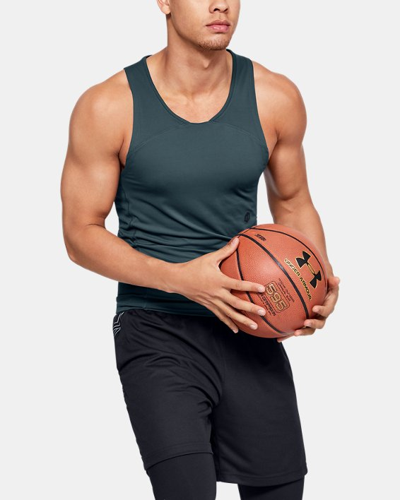 Men's UA RUSH™ Select Tank, Gray, pdpMainDesktop image number 1