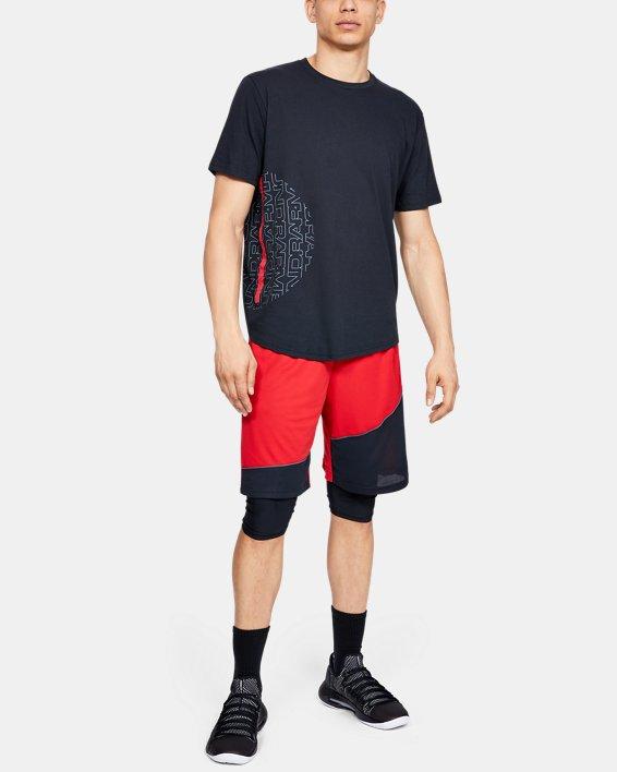 """Men's UA Baseline 10"""" Shorts, Red, pdpMainDesktop image number 1"""