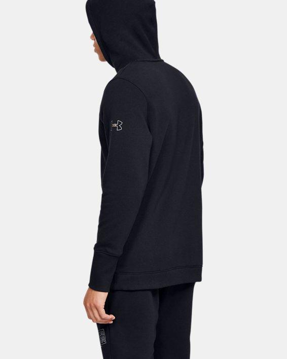 Men's UA Baseline Fleece Hoodie, Black, pdpMainDesktop image number 2