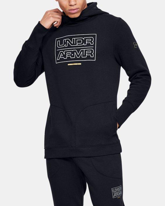 Men's UA Baseline Fleece Hoodie, Black, pdpMainDesktop image number 0