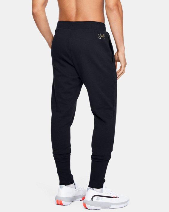 Pantalon de jogging UA Baseline Fleece pour homme, Black, pdpMainDesktop image number 2