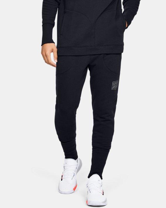 Pantalon de jogging UA Baseline Fleece pour homme, Black, pdpMainDesktop image number 0