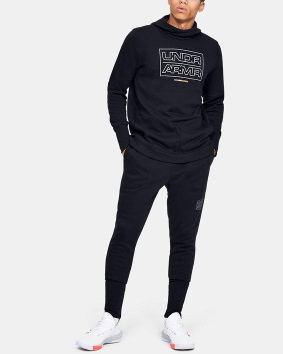 Pantalon de jogging UA Baseline Fleece pour homme, Black, pdpMainDesktop image number 1