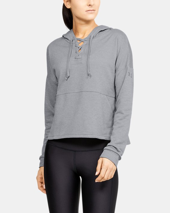 Women's UA Cross Town Hoodie, Gray, pdpMainDesktop image number 0