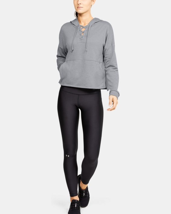 Women's UA Cross Town Hoodie, Gray, pdpMainDesktop image number 1