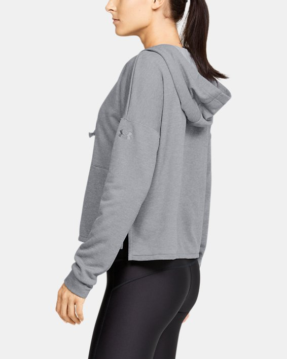 Women's UA Cross Town Hoodie, Gray, pdpMainDesktop image number 3