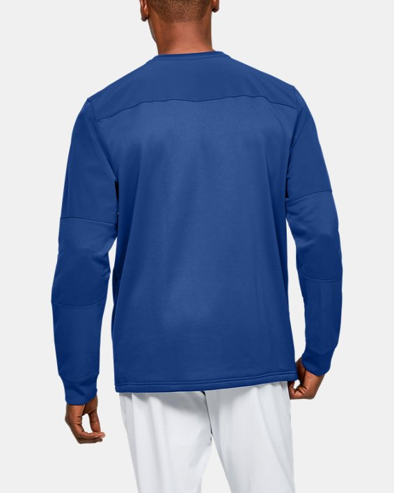 Men's UA CTG Warm-Up Layering Crew, Blue, pdpMainDesktop image number 2