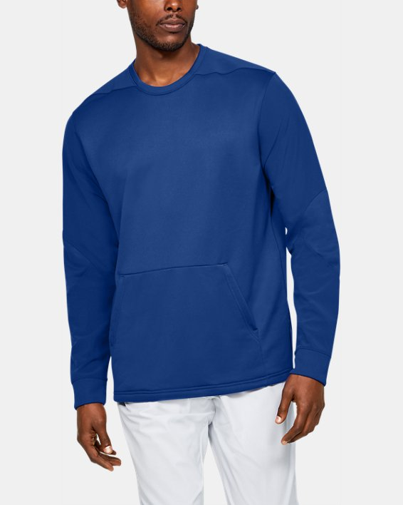 Men's UA CTG Warm-Up Layering Crew, Blue, pdpMainDesktop image number 0