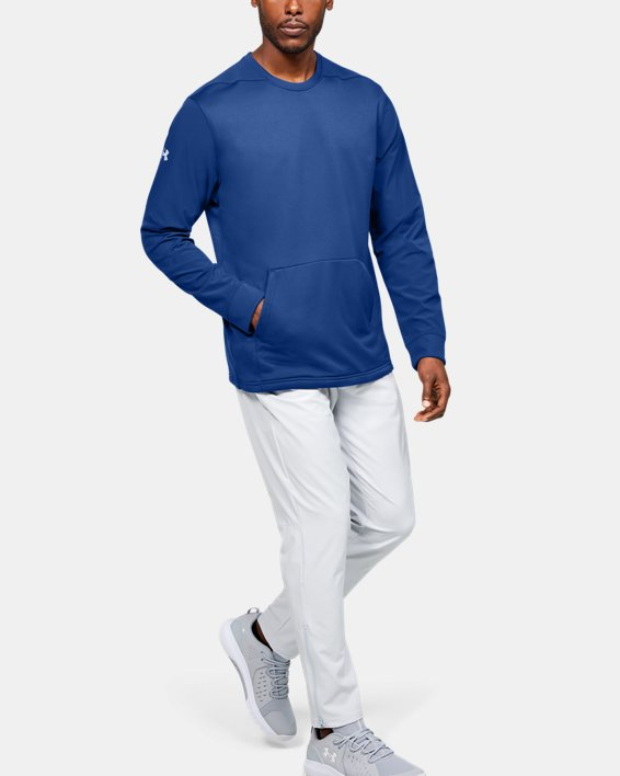 Men's UA CTG Warm-Up Layering Crew, Blue, pdpMainDesktop image number 1