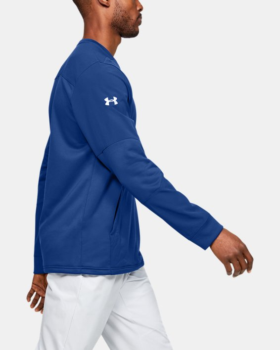 Men's UA CTG Warm-Up Layering Crew, Blue, pdpMainDesktop image number 3