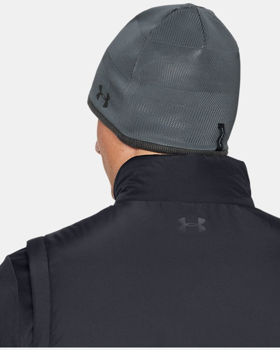 Men's UA Storm Golf Beanie, Gray, pdpMainDesktop image number 1