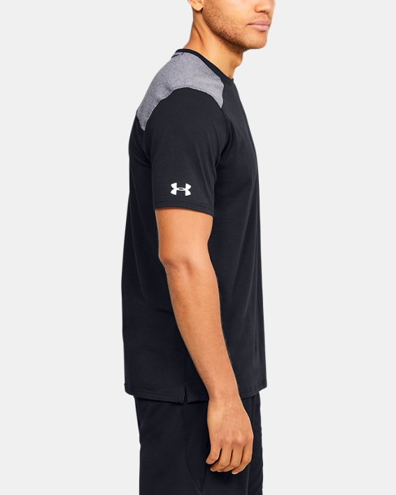 Men's UA Sportstyle Stadium Short Sleeve T-Shirt, Black, pdpMainDesktop image number 3