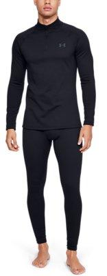 Under Armour 1343242 Men/'s UA ColdGear Base 4.0 1//4 Zip Baselayer Shirt Black