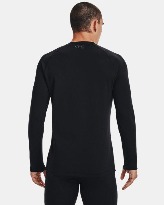 Herren ColdGear® Base3.0 Shirt mit Rundhalsausschnitt, Black, pdpMainDesktop image number 2