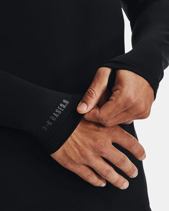 Herren ColdGear® Base3.0 Shirt mit Rundhalsausschnitt, Black, pdpMainDesktop image number 4