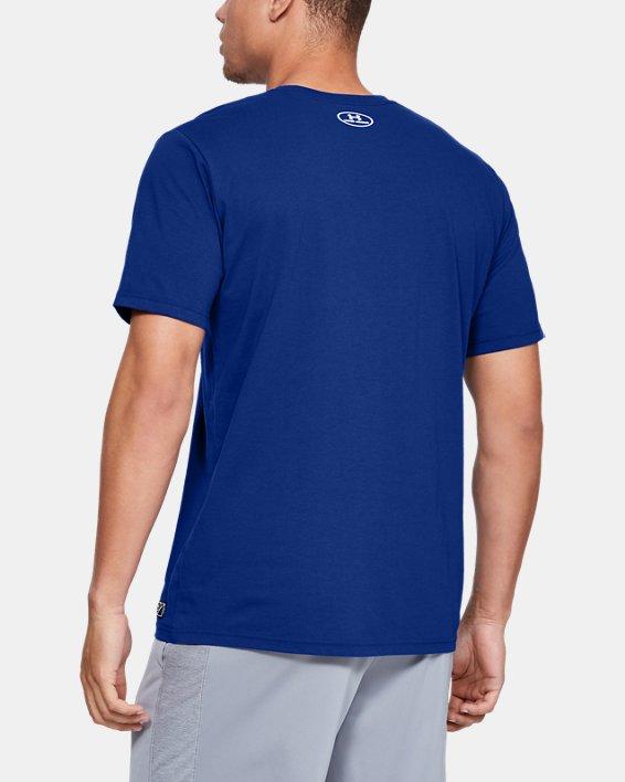 Men's UA Plate Graphic T-Shirt, Blue, pdpMainDesktop image number 2