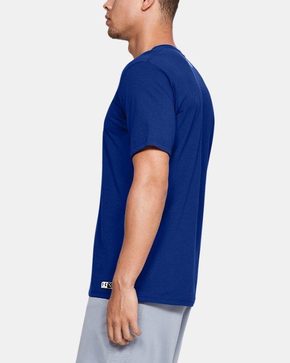 Men's UA Plate Graphic T-Shirt, Blue, pdpMainDesktop image number 3