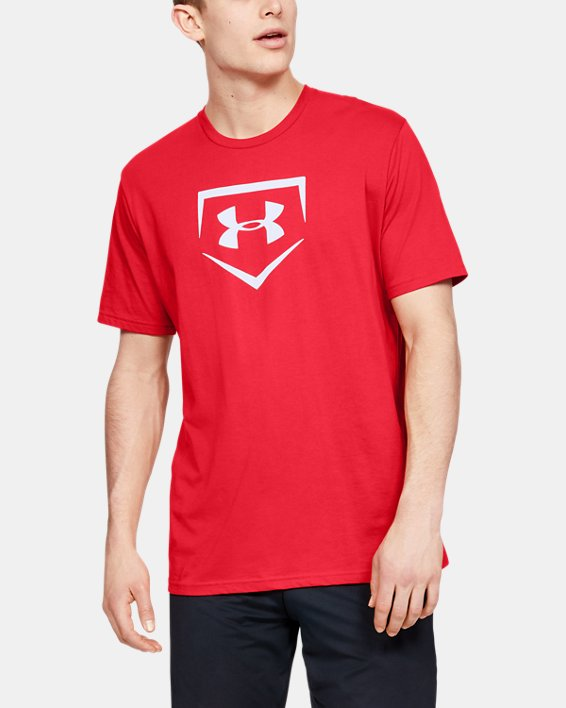 Men's UA Plate Graphic T-Shirt, Red, pdpMainDesktop image number 1