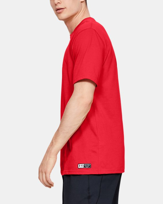 Men's UA Plate Graphic T-Shirt, Red, pdpMainDesktop image number 3