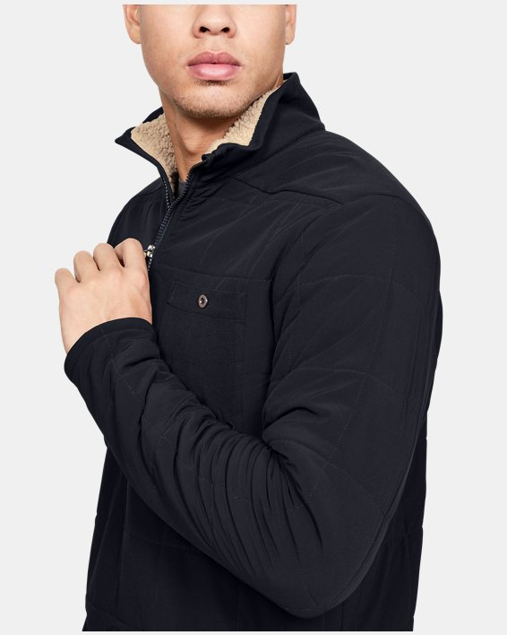 Men's ColdGear® Quilted ½ Zip, Black, pdpMainDesktop image number 5