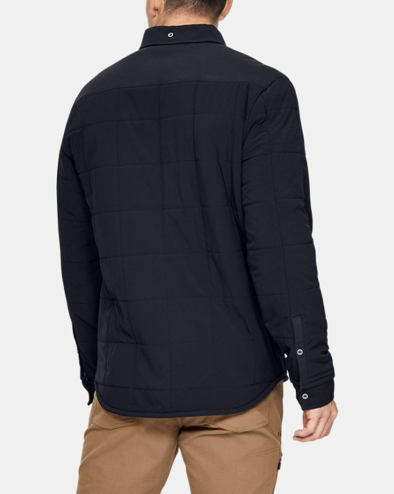 Men's UA Ultimate ColdGear® Quilted Shacket, Black, pdpMainDesktop image number 2