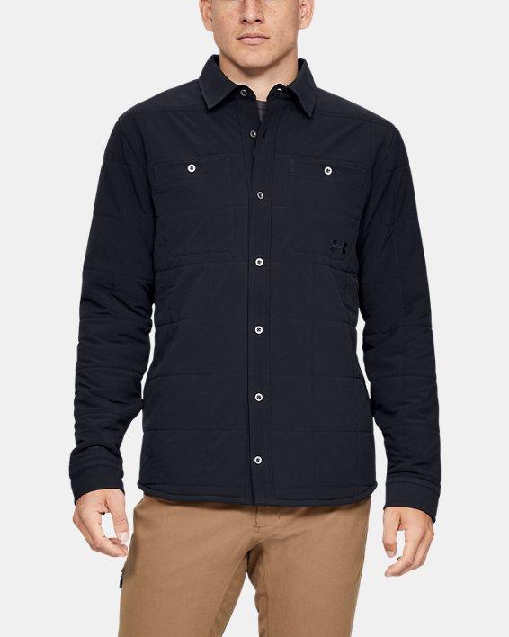 Men's UA Ultimate ColdGear® Quilted Shacket, Black, pdpMainDesktop image number 1