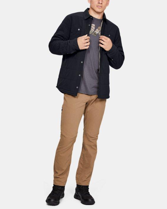 Men's UA Ultimate ColdGear® Quilted Shacket, Black, pdpMainDesktop image number 0
