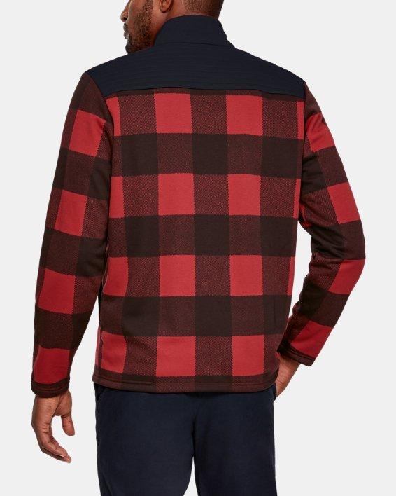 Men's UA Field Fleece Full Zip, Red, pdpMainDesktop image number 2