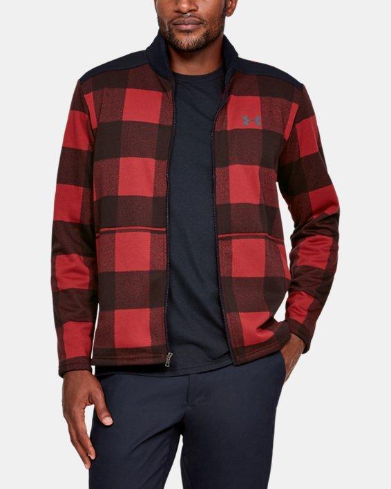 Men's UA Field Fleece Full Zip, Red, pdpMainDesktop image number 1
