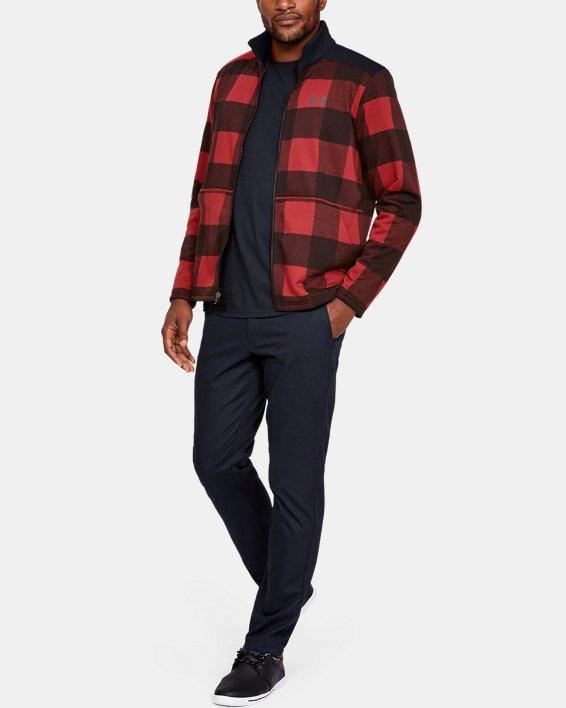 Men's UA Field Fleece Full Zip, Red, pdpMainDesktop image number 0