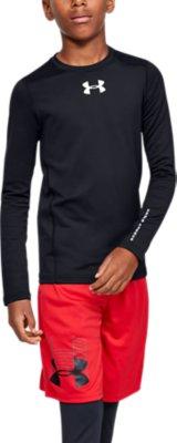 Under Armour Boys HeatGear Armour Long Sleeve T-Shirt
