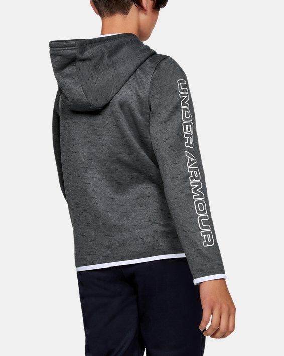 Sweat à capuche Armour Fleece® Branded pour garçon, Black, pdpMainDesktop image number 2