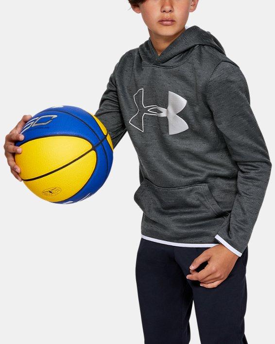 Sweat à capuche Armour Fleece® Branded pour garçon, Black, pdpMainDesktop image number 0