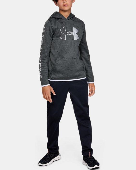 Sweat à capuche Armour Fleece® Branded pour garçon, Black, pdpMainDesktop image number 1