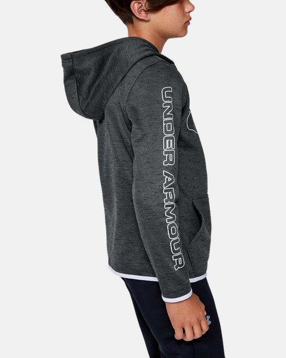 Sweat à capuche Armour Fleece® Branded pour garçon, Black, pdpMainDesktop image number 3