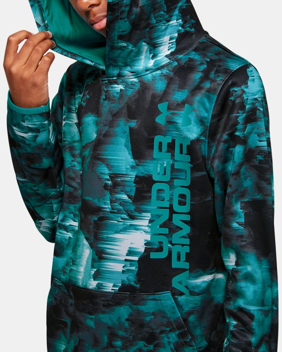 Boys' Armour Fleece® Novelty Hoodie, Gray, pdpMainDesktop image number 6
