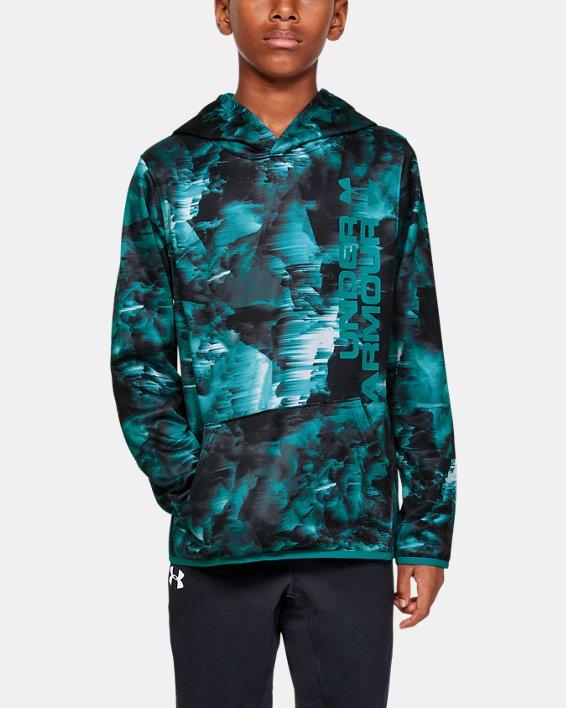 Boys' Armour Fleece® Novelty Hoodie, Gray, pdpMainDesktop image number 0