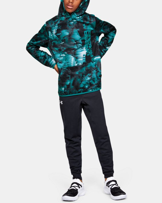 Boys' Armour Fleece® Novelty Hoodie, Gray, pdpMainDesktop image number 1