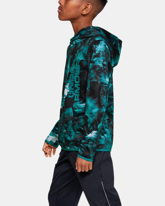 Boys' Armour Fleece® Novelty Hoodie, Gray, pdpMainDesktop image number 3