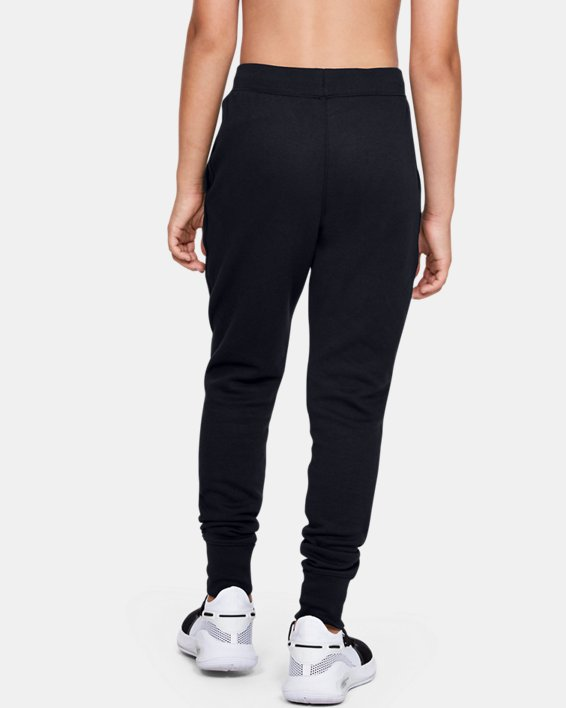 Boys' UA Unstoppable Double Knit Pants, Black, pdpMainDesktop image number 2