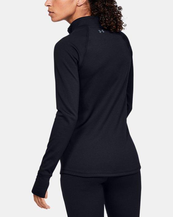 Women's ColdGear® Base 4.0 ½ Zip, Black, pdpMainDesktop image number 2