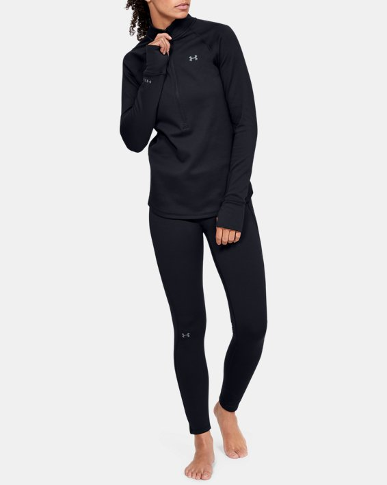 Women's ColdGear® Base 4.0 ½ Zip, Black, pdpMainDesktop image number 1