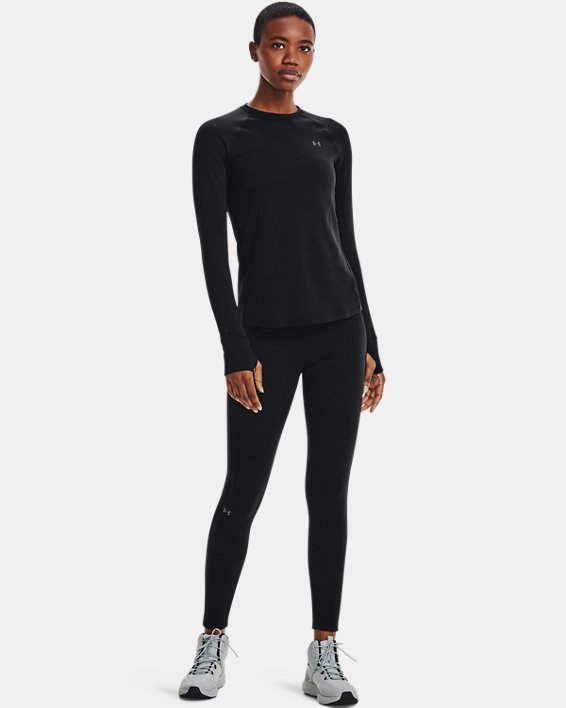 Haut à col ras du cou ColdGear® Base 3.0 pour femme, Black, pdpMainDesktop image number 1