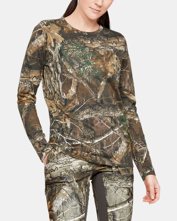 Women's UA Scent Control Camo Long Sleeve T-Shirt, Misc/Assorted, pdpMainDesktop image number 0
