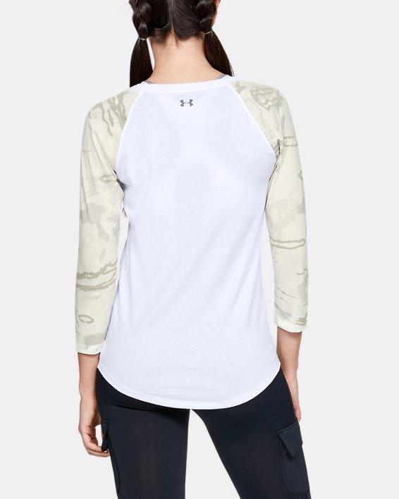Women's UA Camo Sleeve Utility T, White, pdpMainDesktop image number 2