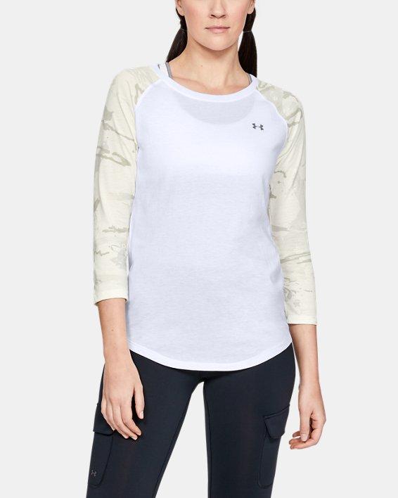 Women's UA Camo Sleeve Utility T, White, pdpMainDesktop image number 0