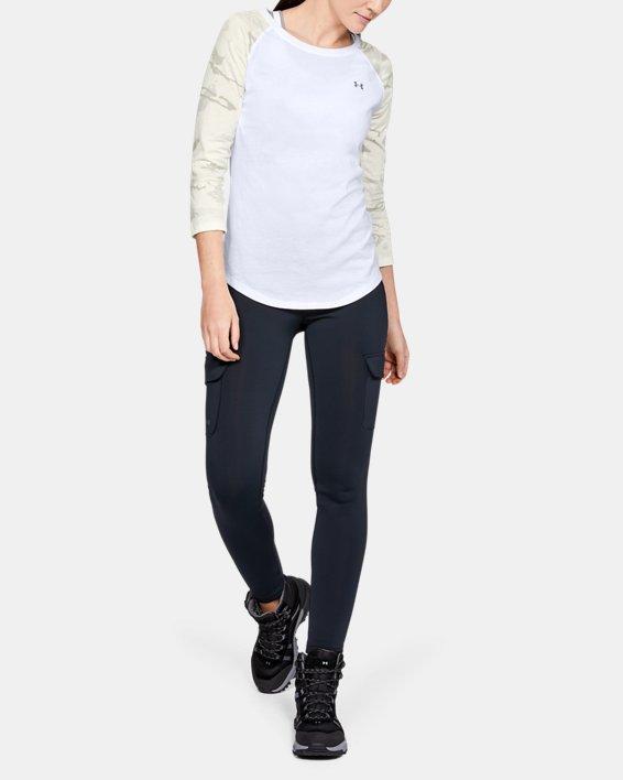 Women's UA Camo Sleeve Utility T, White, pdpMainDesktop image number 1