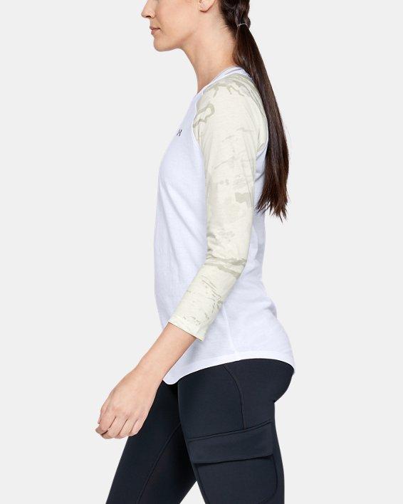 Women's UA Camo Sleeve Utility T, White, pdpMainDesktop image number 3