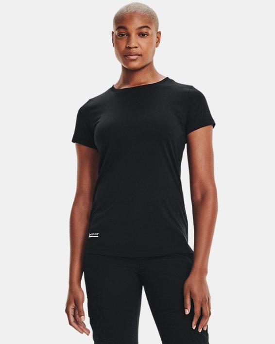 Damen UA Tactical Tech™ Kurzarmoberteil, Black, pdpMainDesktop image number 2
