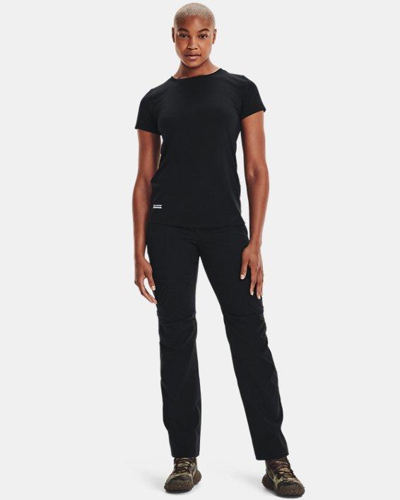 Women's UA Tactical Tech™ Short Sleeve, Black, pdpMainDesktop image number 1